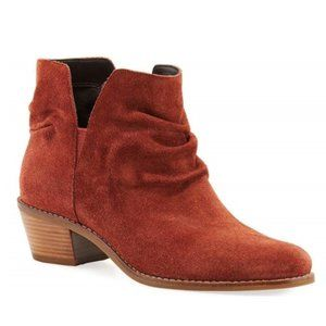 Cole Haan Alayna Slouch Suede Bootie, Mahogany